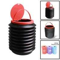 4L Portable Folding Collapsible Canvas Bucket Outdoor Fishing lot Camping B V8D3