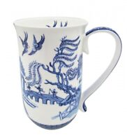 Fine Bone China Blue&White Willow 405cc Tea Coffee Mug Birthday Xmas Gift
