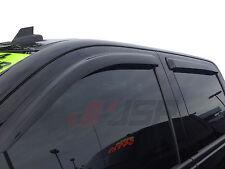 JSP 218043 Chevrolet Silverado Crew Cab Side Window Deflector Visor 2014-2017