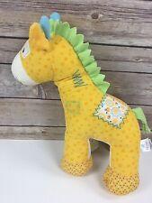 Baby Gund Hopscotch Medium 59071 Yellow Corduroy Horse Pony Plush Stuffed Toy