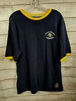 Ralph Lauren Polo Jeans Co Size Large Navy Blue Yellow Ringer T-Shirt