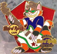 Hard Rock Cafe & Hotel TAMPA FL 2014 Cool ROCKIN' CAT with GUITAR PIN HRC & HRH