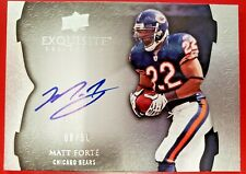 2009 Exquisite Matt Forte Endorsements Auto /50 On Card Chicago Bears