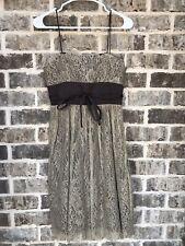 Laundry By Shelli Segal Spaghetti Strap Size 2 Dress Brown Lace