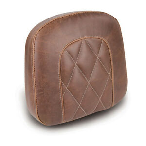 "MUSTANG Diamond Sissybar Pad, Back Padding, Braun 9x9, 5 "", For Harley-Davidson"