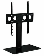 Mount-It! Universal Tabletop TV Stand Base with Shelf | Fits 32-55 Inch TVs