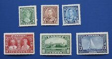 CANADA  (#211-216) 1935 King George V Accession to Throne MNH singles set (lot2)