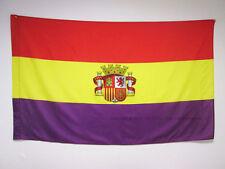 BANDERA ESPAÑA REPUBLICANA CON ESCUDO 150x90cm para palo - BANDERA DE LA REPUBLI