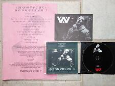 :wumpscut: - Bunkertor 7 - PROMO-CD + Info Sheet + Card  Beton Kopf bkm etah 02