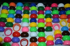 Costume vibrant coloured rings x 30 NEW