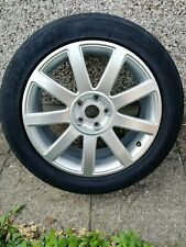 AUDI GENUINE RS4 STYLE 9 SPOKE ALLOY WHEEL AND 235 50 18 TYRE 4EO601025AB