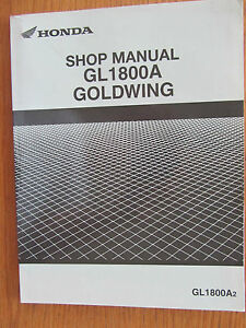 HONDA GL1800A 2 DEALER ONLY SHOP MANUAL NEVER AVAILABLE TO THE GENERAL PUBLIC
