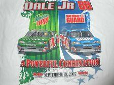 Vintage 2007 NASCAR #88 Dale Earnhardt Jr Mountain Dew National Guard T-Shirt XL