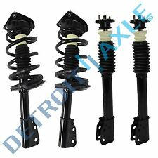 Brand New 4pc Complete Front & Rear Strut Assembly Set w/Spring Coil & Mounts