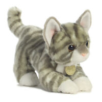 "9"" Grey Tabby Kitten Miyoni Aurora Plush Stuffed Animal Cat"