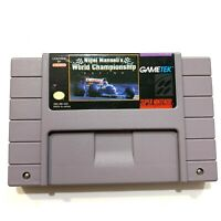 SNES Nigel Mansell's World Championship Racing (1992) - TESTED & WORKING!