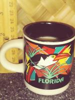 Bourbon Sandalwd Grapefrt soy beeswax wood wick Florida mini mug Free Shipping