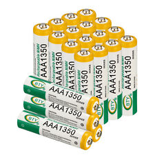20Pcs Set 1.2V AAA 1350mAh Rechargeable Batteries NiMh BTY R3 R03 LR3 LR03 3A