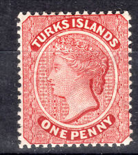 Turk Islands cca 1d QV P14 SG55 1883  mmint -full gum Cat £100