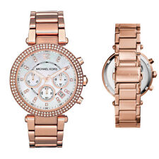 New Michael Kors MK5491 Ladies Parker Rose Gold Chronograph Designer 39mm Watch