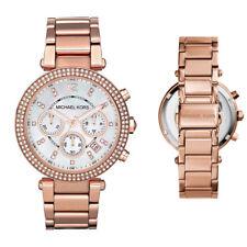 New Michael Kors MK5491 Ladies Parker Rose Gold Chronograph Designer 39mm Watch