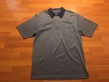 Pendleton Polo Shirt Men's Size Large L Blue Geometric Design Cotton