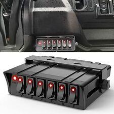 Nilight 6 Gang Rocker Switch Box Spst Toggle Switch Panel 12v 24v 20a Switc