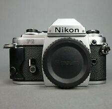 Nikon Fg 35mm Slr Film Camera Body New Battery Tested Working Japan