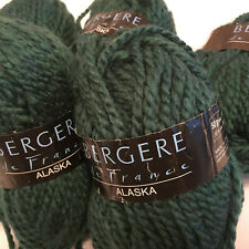 Knitting Yarn - Bergere Alaska shade 60 ~ sapin ~ 5 x 50g balls wool blend