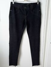 Soft, stretchy jeans-style jeggings, dark indigo, size 16, great condition!
