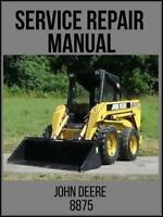 John Deere 8875 Skid Steer Loader Service Technical Manual TM1566 USB