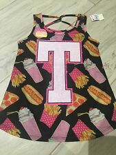 Nwt Justice Summer Initial T Top  Tank Size 8-10!Vacation