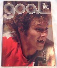 Vintage GOAL NHL Magazine 1976 Flyers vs Capitals Bobby Clarke Cover Ticket Stub
