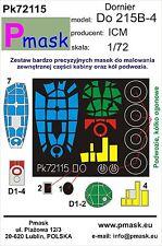 DORNIER DO-215 B-4 CANOPY PAINTING MASK TO ICM KIT #72115 1/72 PMASK