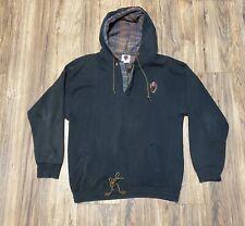 Spyder Mens Vintage Sweater Hood L-XL 90s Drawstring