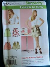 Simplicity 2226 Sewing Pattern Misses Skirts Two Lengths Learn to Sew Sizes 6-18