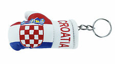 mini boxing gloves keychain keyring key chain leather ring Flag croatia croatian