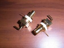 1pr Esoteric Audio USA Gold-Plated RCA Panel Mount Jacks with Teflon Insulators
