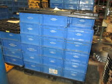 "Buckhorn 9.5"" X 13.5"" Deep HDPE Plastic Stacking Totes W/Skids"