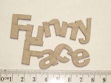 CHIPBOARD - FUNNY FACE - CRAFTY ORIGINALS