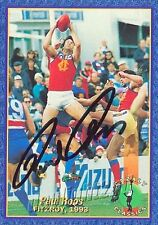 ✺Signed✺ 1993 FITZROY LIONS AFL Card PAUL ROOS Brisbane