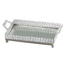 Choice Dazzles Tabletop Mirrored Valet Tray Napkin Tray Holder - Gift Set