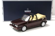 1:18 norev vw golf MKI 1 convertible Classic line Dark Red New en Premium-modelcars
