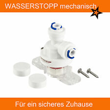 Wasserstopp mechanisch - Umkehrosmose