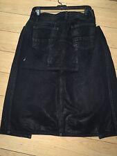 SLAB BY Rick Owens WOMEN Skirts,jeans black low &high sz M wax wash wca4005