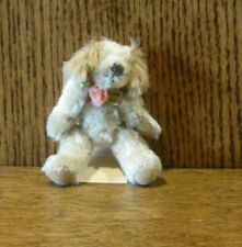 "Russ Berrie MO BEARS & FRIENDS #21052 SUTTON, 3.25"" Mohair Dog, NEW with tag"
