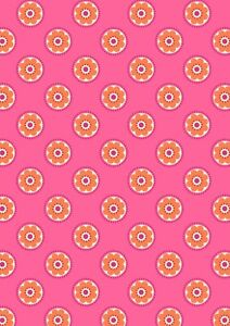 Lewis & Irene Flower Child funky daisy on pink 100% cotton fat quarter-metre