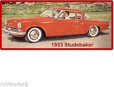 1953 Studebaker Auto Refrigerator / Tool Box  Magnet Man Cave