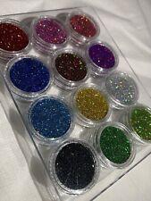12pcs Nail Glitter Holographic Laser Glitter dust Nail Art 3D Decor Manicure