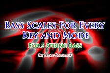 2 BOOK BUNDLE 5 STRING BASS GUITAR SCALES AND MODE CHARTS AND CHORD TONE CHARTS